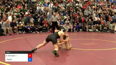 160 lbs Final - Andrew Cerniglia, Notre Dame vs Paddy Gallagher, St. Edward