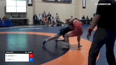 74 kg Rnd Of 64 - Gabriel James, MWC vs Joe Lee, NLWC