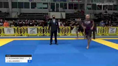 ELDER ALEXANDER CRUZ vs JORGE VALLADARES 2021 Pan IBJJF Jiu-Jitsu No-Gi Championship