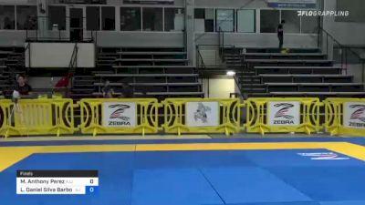 Michael Anthony Perez vs Lucas Daniel Silva Barbosa 2021 Pan IBJJF Jiu-Jitsu No-Gi Championship