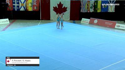 F. Provost / O. Kopec - Pair, Oakville Gymnastics Club - 2019 Canadian Gymnastics Championships - Acro