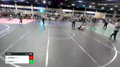 123 lbs Quarterfinal - Lorenzo Gallegos, NM Gold vs Ben Kohler, Wasatch WC