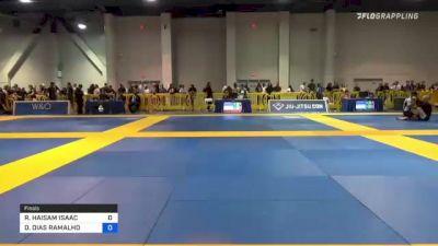 RIDA HAISAM ISAAC vs DIEGO DIAS RAMALHO 2021 American National IBJJF Jiu-Jitsu Championship