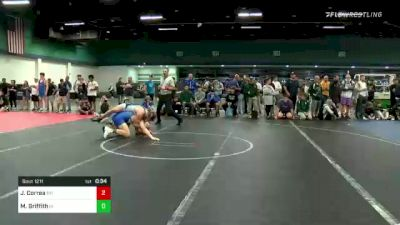 182 lbs Consi Of 4 - Jude Correa, NH vs Mickey Griffith, IA