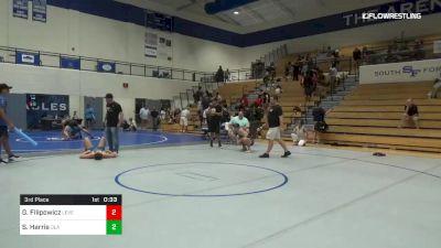 145 lbs 3rd Place - Gunner Filipowicz, Level Up vs Sam Harris, Ola