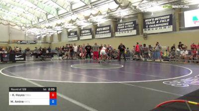 70 kg Round Of 128 - Ke-Shawn Hayes, Ohio State-Unattached vs Malik Amine, Michigan Regional Training Center