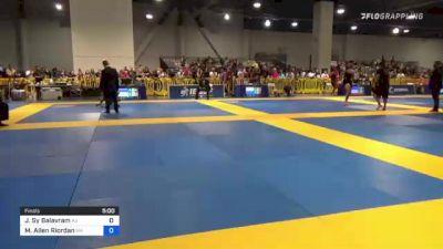 Jason Sy Balavram vs Michael Allen Riordan 2021 American National IBJJF Jiu-Jitsu Championship