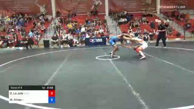 61 kg Consolation - Dominic La Joie, Spartan Combat RTC vs Malyke Hines, Florida
