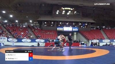 72 kg 3rd Place - James Burks, MWC vs Britton Holmes, NMU/OTS