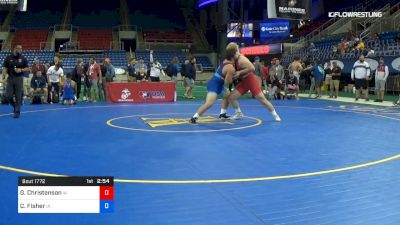 220 lbs Cons Semis - Gabe Christenson, Iowa vs Cody Fisher, Iowa