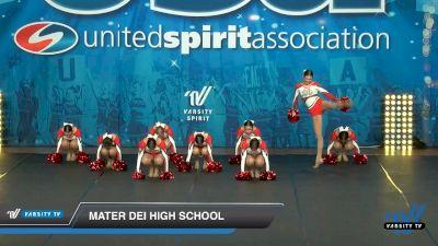 Mater Dei High School [2020 Small JV Song/Pom Advanced (5-9) Day 3] 2020 USA Spirit Nationals