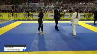 MICAH KINGERY vs ISIS MEHROO GARDNER 2021 Pan Kids Jiu-Jitsu IBJJF Championship