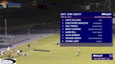 High School Boys' 200m 3A, Finals 2
