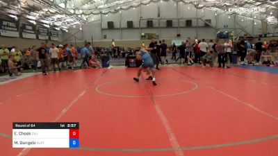 70 kg Round Of 64 - Evan Cheek, Cleveland State University vs Mike Dangelo, NJRTC