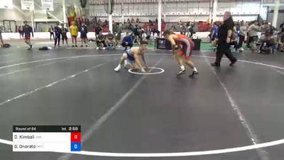 65 kg Prelims - Daniel Kimball, Jackrabbit Wrestling Club vs Gabriel Onorato, Pennsylvania RTC