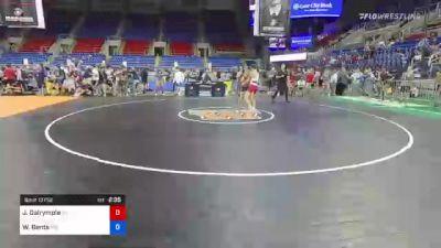 132 lbs Quarterfinal - James Dalrymple, Tennessee vs Walker Bents, Minnesota