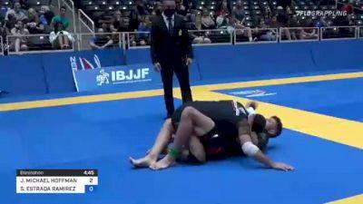 JOHN MICHAEL HOFFMAN vs SERGIO ESTRADA RAMIREZ 2021 World IBJJF Jiu-Jitsu No-Gi Championship