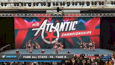 FAME All Stars - PA - Fame Black Widows [2020 L3 Junior - Medium Day 2] 2020 Mid-Atlantic Championships