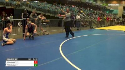157 lbs Round of 64 - Jed Loveless, UN-Wyoming vs Parker Simington, Air Force
