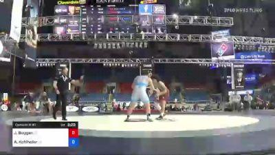 285 lbs Consi Of 8 #1 - Joshua Boggan, Michigan vs Austin Kohlhofer, Ohio