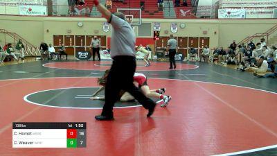 138 lbs Semifinal - Cole Homet, Waynesburg vs Carter Weaver, Williamsport