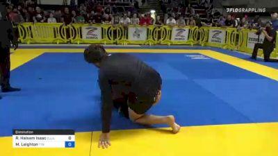 Rida Haisam Isaac vs Matheus Leighton 2021 Pan IBJJF Jiu-Jitsu No-Gi Championship