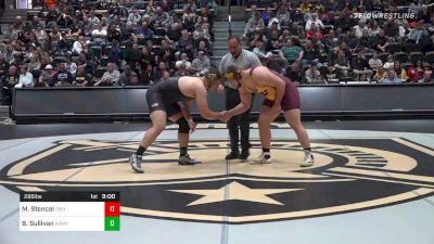 285 lbs Semifinal - Matt Stencel, Central Michigan vs Ben Sullivan, Army