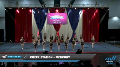 Cheer Station - Mercury [2021 L3 Junior - D2 - Small Day 2] 2021 The American Spectacular DI & DII