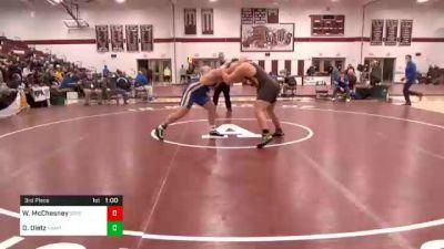 285 lbs 3rd Place - William McChesney, Greensburg Salem vs Dawson Dietz, Hampton