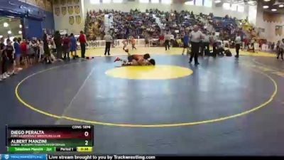 145 lbs Cons. Semi - Diego Peralta, Fort Lauderdale Wrestling Club vs Albert Manzini, Doral Academy/MaximumPerforman