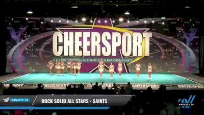 Rock Solid All Stars - SAINTS [2021 L3 Senior - Small Day 2] 2021 CHEERSPORT National Cheerleading Championship
