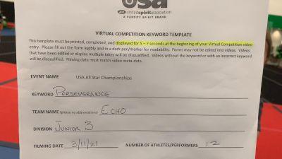 CheerForce Arizona - Echo [L3 Junior] 2021 USA All Star Virtual Championships