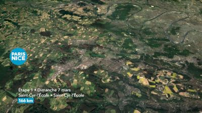 2021 Paris Nice Stage 1 Course Flythrough