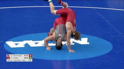 184 Semifinal, John Poznanski, Rutgers vs Trent Hidlay, NCST