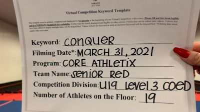 Core Athletix - Senior Red [L3 - U19 Coed] 2021 Varsity All Star Winter Virtual Competition Series: Event V