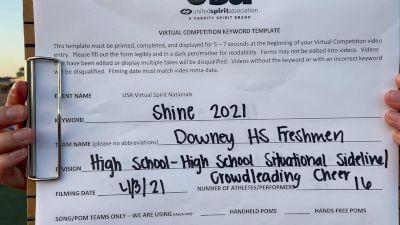 Downey High School [High School - High School Situational Sideline/Crowdleading Cheer] 2021 USA Spirit & Dance Virtual National Championships