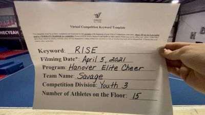 Hanover Elite - Savage [L3 Youth - D2] 2021 The Regional Summit Virtual Championships