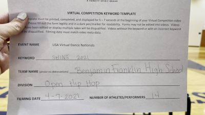 Benjamin Franklin High School [Hip Hop Varsity - Medium] 2021 USA Spirit & Dance Virtual National Championships