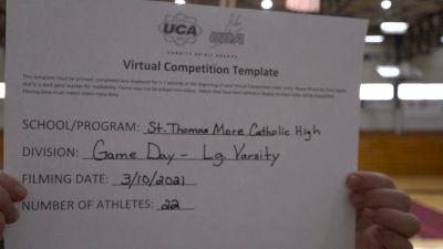 St Thomas More Catholic School [Game Day Large Varsity Virtual Finals] 2021 UCA National High School Cheerleading Championship
