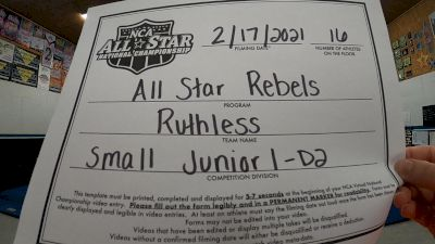 All Star Rebels - Ruthless [L1 Junior - D2 - Small - A] 2021 NCA All-Star Virtual National Championship