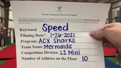 ACX Sharks - Mermaids [L1 Mini] 2021 Varsity All Star Winter Virtual Competition Series: Event I