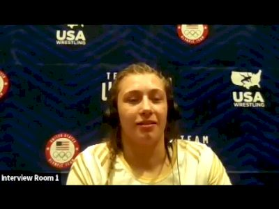 Kylie Welker (76 kg) after winning challenge tournament at 2021 Olympic Trials