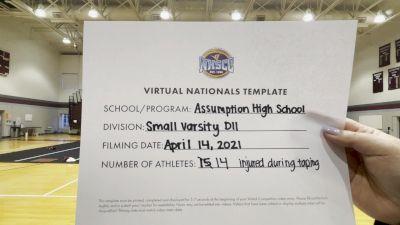 Assumption High School [Small Varsity Division II Virtual Finals] 2021 UCA National High School Cheerleading Championship
