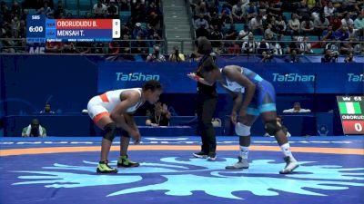 68 kg Round 2 B. OBORUDUDU (NGR) v. Tamyra MENSAH (USA)