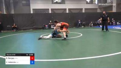 74 kg Prelims - Blaine Bergey, Princeton Wrestling Club vs Cael Valencia, California