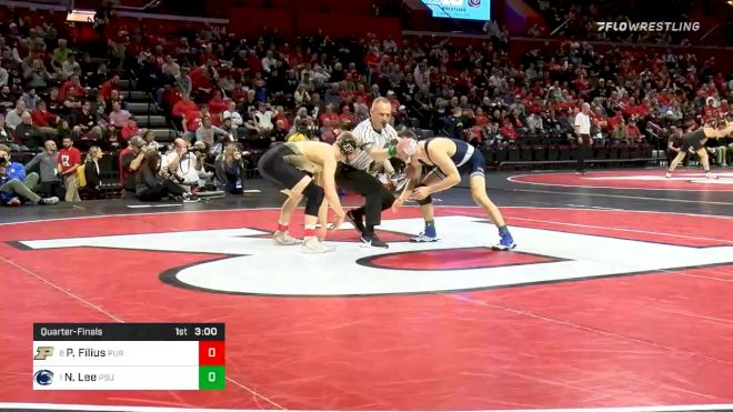 141 lbs Quarterfinal - Parker Filius, Purdue vs Nick Lee, Penn State
