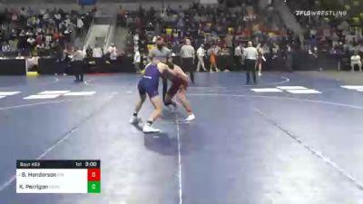 157 lbs Semifinal - Brady Henderson, Coe College vs Killian Perrigon, Cornell College