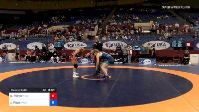 62 kg Consolation - Alexis Porter, New York Athletic Club vs Jennifer Page, Titan Mercury Wrestling Club