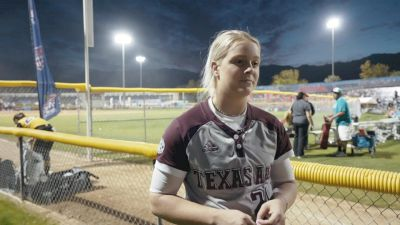 TAMU Makinzy Herzon Dugout Talk Trailing Arizona