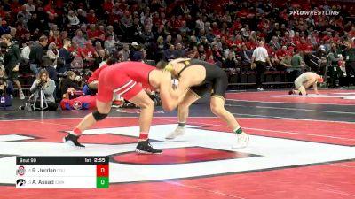 184 lbs Quarterfinal - Rocky Jordan, Ohio State vs Abe Assad, Iowa